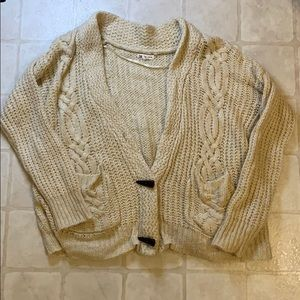 Cotton Candy Cable Knit Sweater SZ XS/S